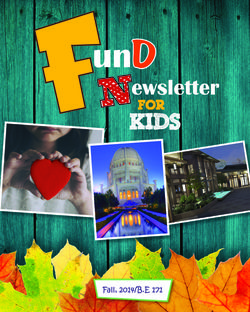 Kids newsletter cover for fall